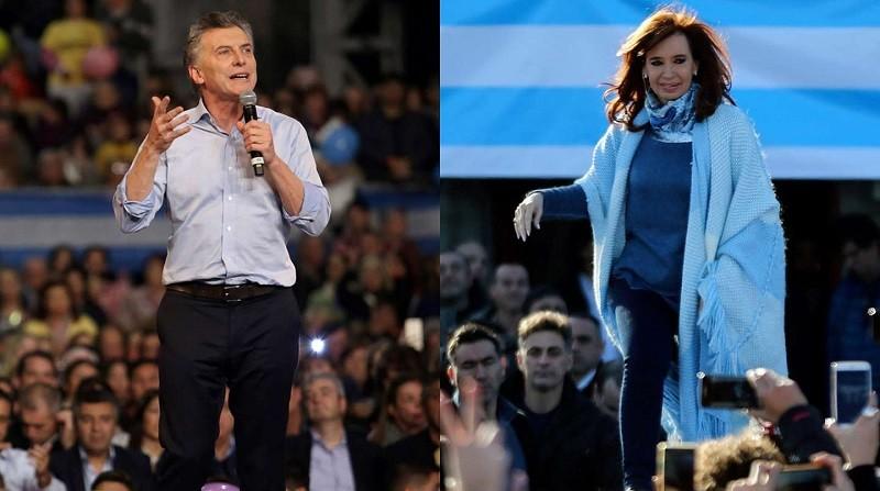 Cristina Kirchner y Mauricio Macri, los abanderados de la grieta en campaña