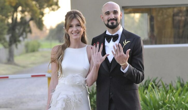 Abel Pintos y Mora Calabrese celebraron su boda en un entorno de ensueño