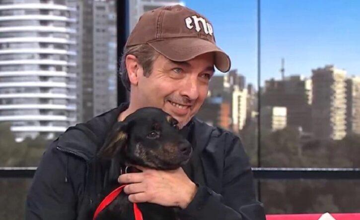 Ricardo Darín se encontró un perro en la calle y apareció sorpresivamente en el programa de Leo Montero para ubicar al dueño