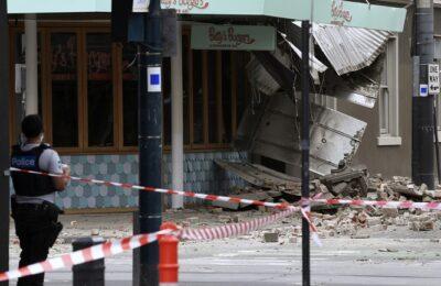 Las primeras imágenes de la destrucción dejada por el terremoto de 5,9 en Australia