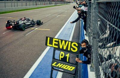 Hamilton logró su triunfo número cien en Rusia y es el nuevo líder del campeonato