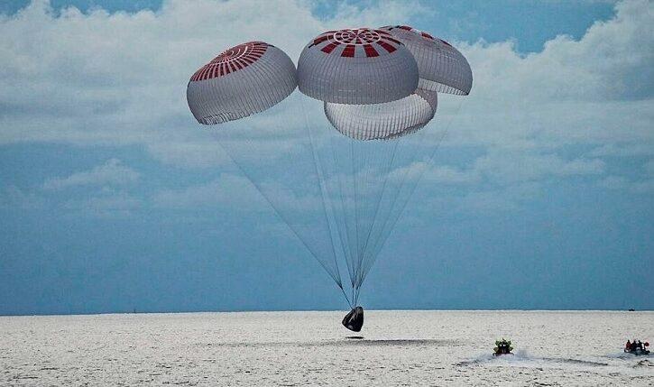 Los cuatros pasajeros de SpaceX regresaron a la Tierra luego de tres días en el espacio