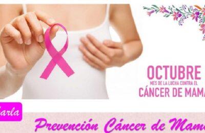 Charla de prevención de cáncer de mama en Rama Caída