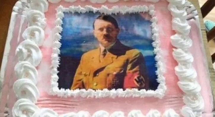 Festejó su cumpleaños con una torta de Hitler y se armó un escándalo