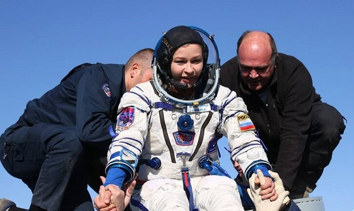 VIDEOS: Así fue el histórico regreso del primer equipo de rodaje de una película en el espacio tras permanecer 12 días en la EEI